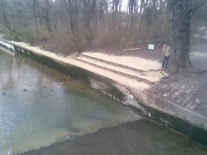 Uferbefestigung Eisbach München