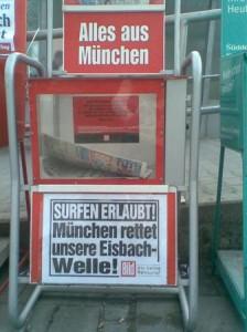 München rettet die Eisbachwelle in Bild-Zeitung 27.04.2010