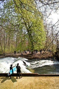Eisbach river surfing munich late april 2010 a