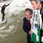 Eisbach Welle Muenchen gerettet Wellenreiten legal