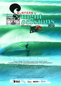 SURFERS Nightsession Rip Curl Party Ed Moses Eisbach München