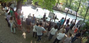 Eisbach Munich River Surfing Visitors International Surfing Day