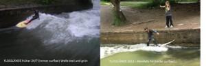 Floßlände früher und heute