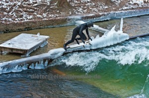 eisbach munich ice surfing river germany
